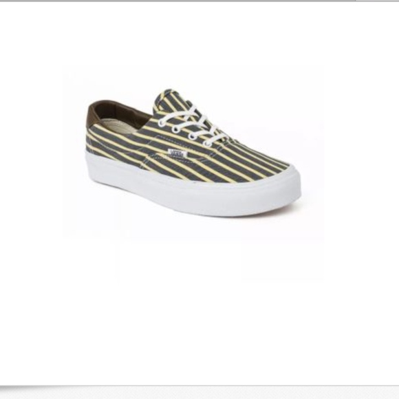 e10bf7a945 Vans Era 59 Stripes Yellow True White Shoes